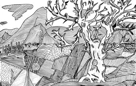Philippe ROLAND : dessins à l\'encre de Chine